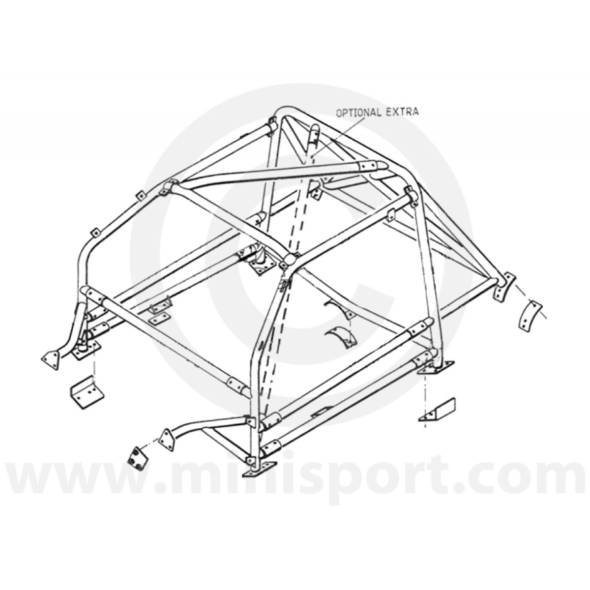 Rbn046 Mini Miultipoint Bolt In Roll Cage Safety Devices