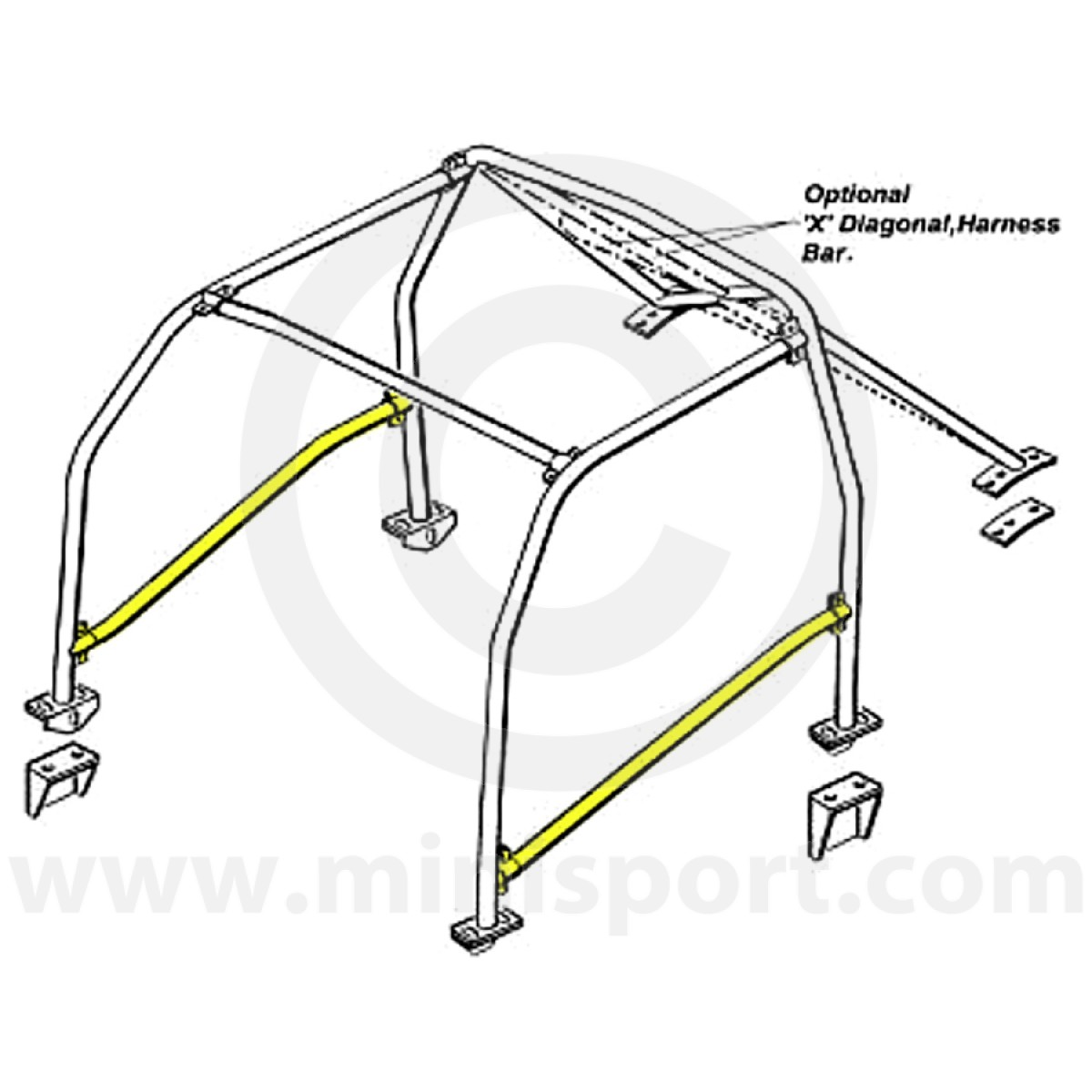 RBN00A1 Mini Roll Cage Door Bar | Safety Devices | minisport