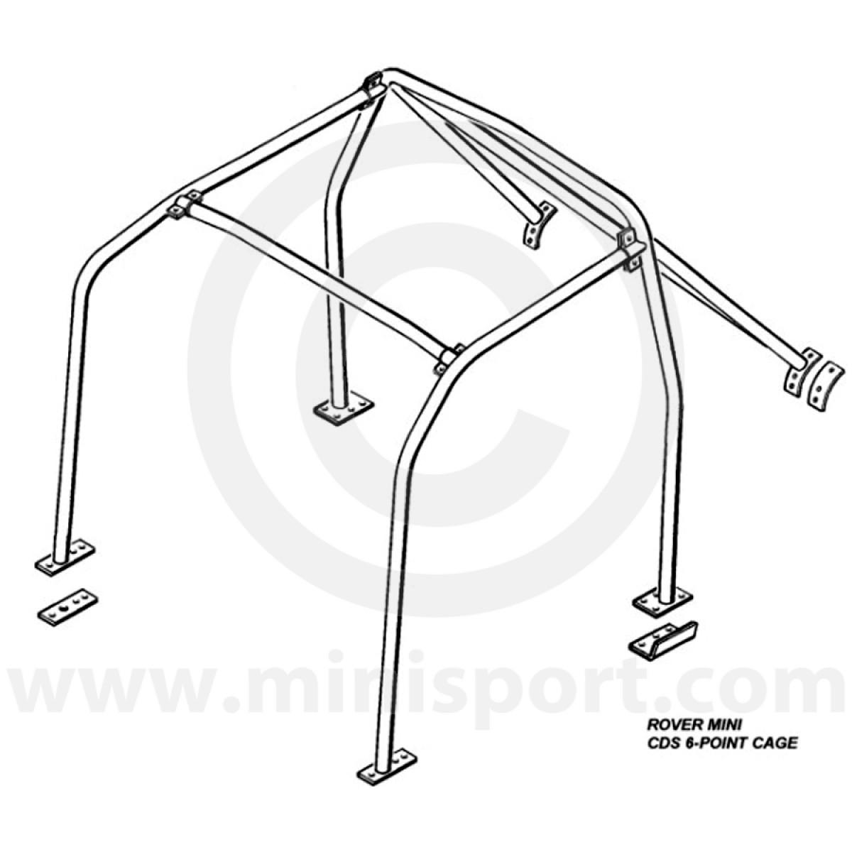 rbn004 mini rear roll cage safety devices minisport mini sport Saturn Fuse Box mini 6 point bolt in roll cage safety device