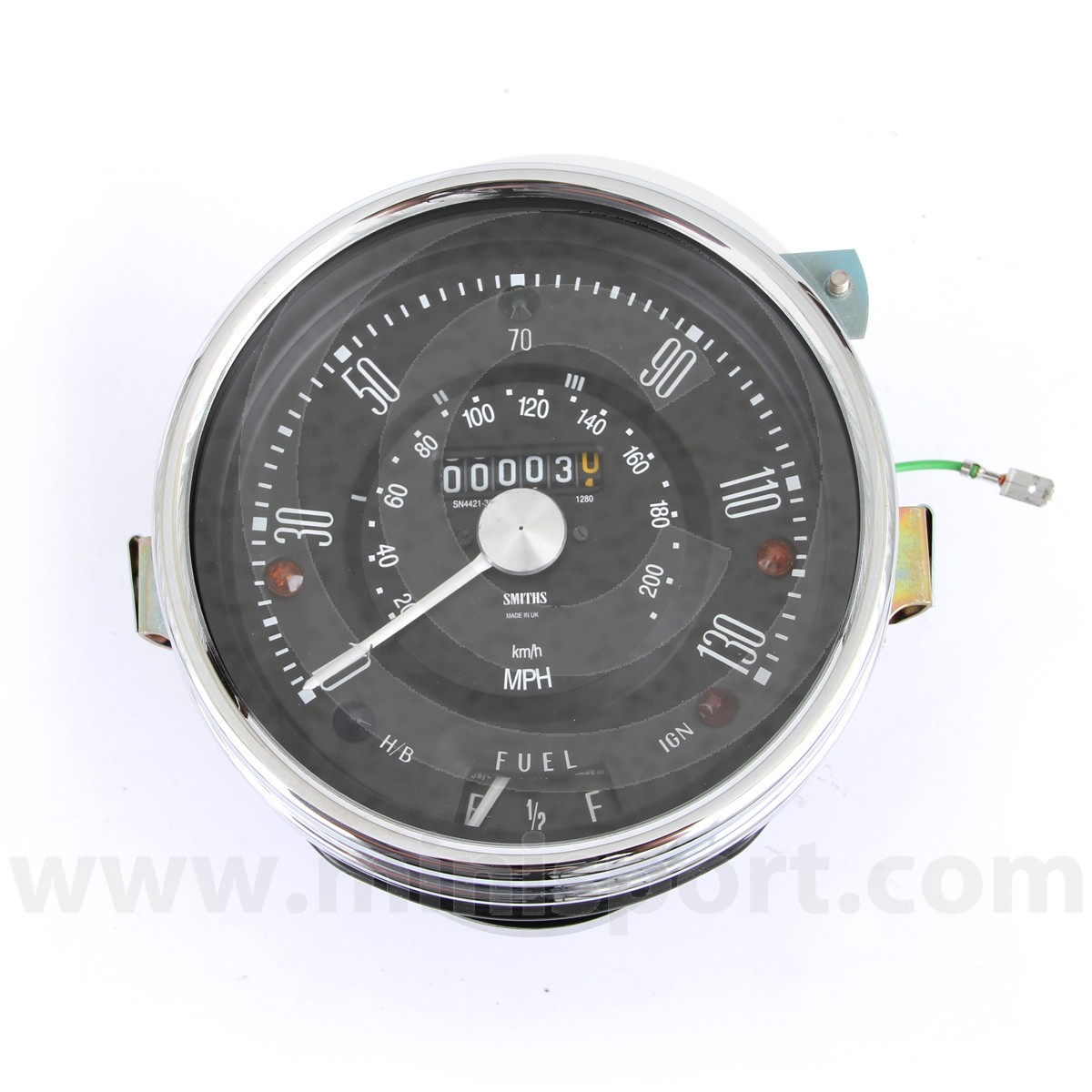 Sn4421 32b Smiths Speedo 130mph Classic Mini Parts Spares Cooper Tachometer Wiring Diagram More Views