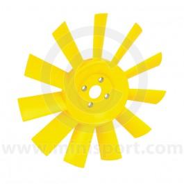 11 Blade Plastic Fan - Yellow