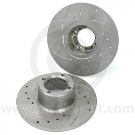 "21A2612D/G X-drilled & grooved 8.4"" Mini brake discs, pair"