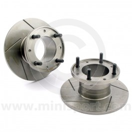 "GBD101GRV Grooved 7.5"" Mini front brake discs for Mini Cooper S and early 1275GT models with 10"" wheels. (21A1265)"