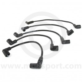 Black - 7mm Silicone Spark Plug Lead Set 81-96