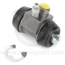 "GWC1131 Mini rear brake drum wheel cylinder with 9/16"" (14.3mm) diameter bore."