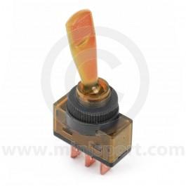 Illuminated Toggle Switches - Amber