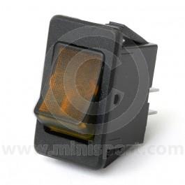 Rocker Switches - On/Off - Amber illuminated