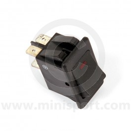 LMA844 Mini Rocker Switches - On/Off - Red LED