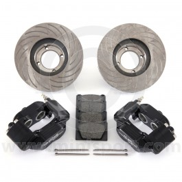 Black 7.9'' Mini Sport Vented Brake Kit with Alloy Calipers