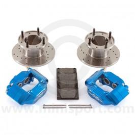 Blue 7.5'' Mini Sport Brake Kit with 4 Pot Alloy Calipers