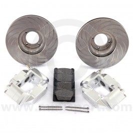 Mini 4 pot silver alloy caliper brake kit