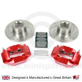 "RED 8.4"" Alloy 4 Pot Disc Brake Assembly"