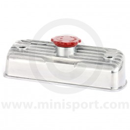 RC-3 A stylish polished alloy rocker cover with the angled top and fins, as fitted to later Minis and Metro models. CAM6822