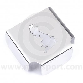 Classic Mini SPI stainless steel fuel relay cover with map cut out