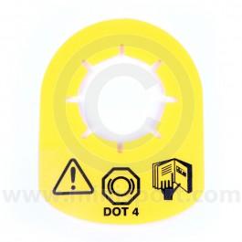 Dot 4 Brake Master Cylinder Tag for Classic Mini