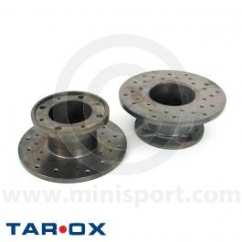 Brake Discs - Tarox Sport Japan - X-Drilled - 7.5 Cooper S pair