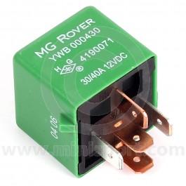 YWB000430 Mini Relay - Green type - cooling fan/horn - 5 pin