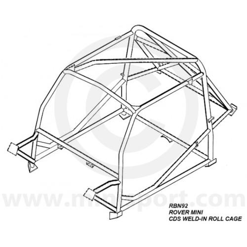 Rbn926ssu Mini Weld In Roll Cage