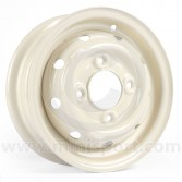 """Mini Cooper S Steel Wheel finished in Old English White - 3.5"""" x 10"""""""