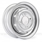 "21A1282S 3.5"" x 10"" Cooper S steel wheel finished in silver."
