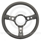 Classic Mini steering wheel by Mountney in Black Vinyl & Black Spokes
