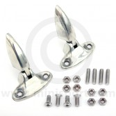 BMB500010 Pair of Genuine Mini boot lid hinges, finished in bare metal perfect for painting. (HMP441031)