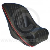 Cobra Classic Seat - Black/Red Piping