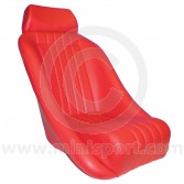 Cobra Classic Seat inc. Headrest - Red