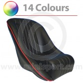Cobra classic Mini bucket seat black vinyl seat with red piping