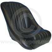 COBSFX050 Cobra classic bucket seat finished in black vinyl, perfect for your Mini or other classic vehicles.