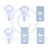 Set of 3 Harness Eye Bolts with Plates for Classic Mini
