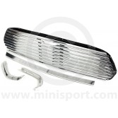 DHB10151 Mini Cooper 8 Bar external bonnet release grille kit, to fit all models 1967on.