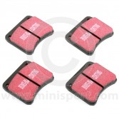 """EBCDP3102 A set of EBC Red stuff ceramic front brake pads for Mini Cooper S and early 1275GT models fitted with 10"""" wheels. (GBD103)"""