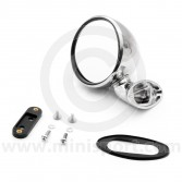 Classic Mini Domed Left Hand Mirror Stainless steel