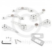 Cooper Alloy Billet Door Furniture Kit - Silver