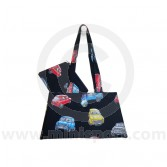 Cotton Black Handbag and purse combo with Classic Mini design