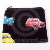 Cotton Black purse with Classic Mini design