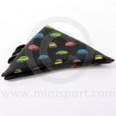Black Silk Pocket Square With Classic Mini design