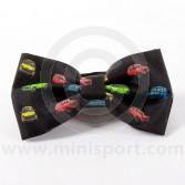 Black Silk Bow Tie Pre-tied With Classic Mini design