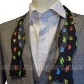 Black Silk Bow Tie Self-tie With Classic Mini design