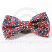 Silk Bow Tie Pre-Tied With Union Jack design