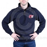 Zip neck sweatshirt embroidered with the Mini Sport Mini Cup logo