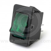 Rocker Switches - On/Off - Green illuminated