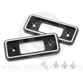 Cooper Alloy Billet Door Lock Covers - Black
