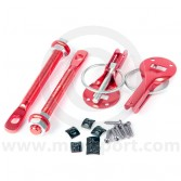 Competition Lightweight Mini Bonnet Pins - Red