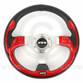 Mountney Sport Mini Steering Wheel - Red Inset