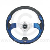 Mountney Sport Mini Steering Wheel - Blue Inset