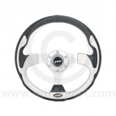 Mountney Sport Mini Steering Wheel - Silver Inset