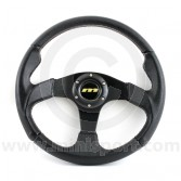 M34M3PB Mountney M Range 340mm diameter moulded steering wheel, with black anodised spokes