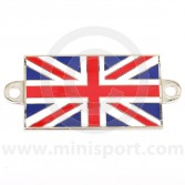 Enamel Union Jack A Panel Badge - Self Adhesive